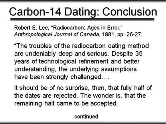Research finds carbon dating flawed